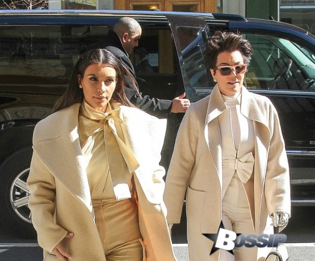 Kim Kardashian and Kris Jenner gets together for lunch at Ciprini in NYC.